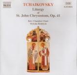 TCHAIKOVSKY - Hobdych - Liturgie de Saint Jean Chrysostome, pour chœur a