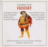 VERDI - Rossi - Falstaff, opéra en trois actes