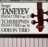 TANEYEV - Odeon Trio - Trio à cordes en Ré majeur
