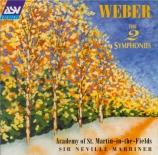 WEBER - Marriner - Symphonie n°1 en do majeur