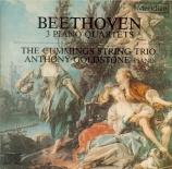 BEETHOVEN - Cummings string - Quatuor avec piano en mi bémol majeur WoO