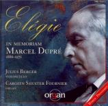 Elégie : in memoriam Marcel Dupré