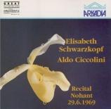 SCHUBERT - Schwarzkopf - Der Einsame (Lappe), lied pour voix et piano op Récital à Nohant, le 29.6.1969