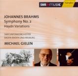 BRAHMS - Gielen - Symphonie n°2 pour orchestre en ré majeur op.73