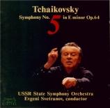TCHAIKOVSKY - Svetlanov - Symphonie n°5 en mi mineur op.64 Import Japon