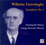 FURTWÄNGLER - Albrecht - Symphonie n°3