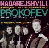 PROKOFIEV - St Petersburg S - Quatuor à cordes n°1 op.50