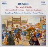 BUSONI - Wong - Turandot suite, pour orchestre op.41