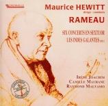 RAMEAU - Hewitt - Six concerts en sextuor