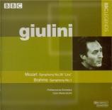 MOZART - Giulini - Symphonie n°36 en do majeur K.425 'Linz'