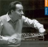BRAHMS - Rowicki - Symphonie n°2 pour orchestre en ré majeur op.73