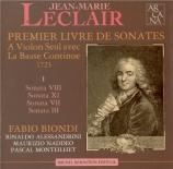 LECLAIR - Biondi - Sonate pour violon op.1 n°8