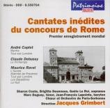 Cantates inédites du concours de Rome