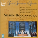 VERDI - Allemandi - Simon Boccanegra, opéra en trois actes