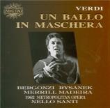 VERDI - Santi - Un ballo in maschera (Un bal masqué), opéra en trois act live MET 1962