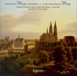 BRAHMS - Baker - Missa canonica, pour chœur à quatre à six voix mixtes a
