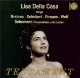 SCHUMANN - Della Casa - Frauenliebe und -Leben (L'amour et la vie d'une