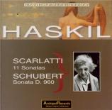 SCHUBERT - Haskil - Sonate pour piano en si bémol majeur D.960