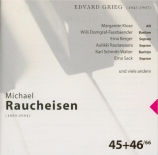 GRIEG - Rautawaara - Mélodies (Michael Raucheisen edition Vol.45-46) Michael Raucheisen edition Vol.45-46