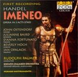 HAENDEL - Palmer - Imeneo, opéra en 3 actes HWV.41
