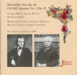 BRAHMS - Serkin - Trio pour piano, violon et cor en mi bémol majeur op.4