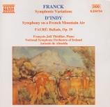 FRANCK - Thiollier - Variations symphoniques, pour piano et orchestre FW