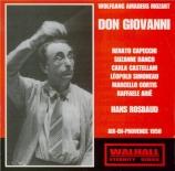 MOZART - Rosbaud - Don Giovanni (Don Juan), dramma giocoso en deux actes live Aix-en-Provence 18.07.1950