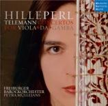 TELEMANN - Perl - Concerto pour flûte à bec et viole de gambe, cordes et