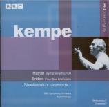 HAYDN - Kempe - Symphonie n°104 en si bémol majeur Hob.I:104 'London'