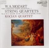 MOZART - Kocian Quartet - Quatuor à cordes n°14 en sol majeur K.387 Import Japon