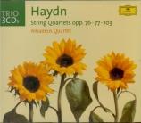 HAYDN - Amadeus Quartet - Six quatuors à cordes op.76 Hob.III:75-80