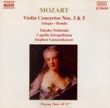 MOZART - Nishizaki - Concerto pour violon et orchestre n°3 en sol majeur