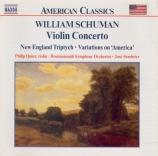SCHUMAN - Quint - Concerto pour violon et orchestre