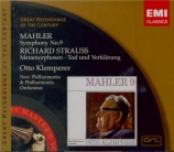 MAHLER - Klemperer - Symphonie n°9