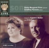 SCHUBERT - Price - Du bist die Ruh (Rückert), lied pour voix et piano op live at Wigmore Hall 8-12-1987
