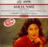 Mélodies de Falla, Ginastera, Guastavino, Camps