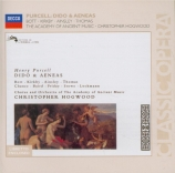 PURCELL - Hogwood - Dido and Aeneas (Didon et Énée), opéra Z.626