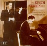 BRAHMS - Busch - Sonate pour violon et piano n°1 en sol majeur op.78 Unpublished Recordings