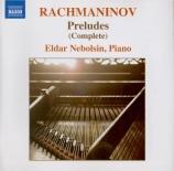 RACHMANINOV - Nebolsin - Prélude pour piano en ut dièse mineur op.3 n°2