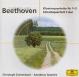BEETHOVEN - Eschenbach - Quatuor avec piano en mi bémol majeur WoO 36 n°