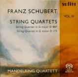 SCHUBERT - Mandelring Quar - Quatuor à cordes n°15 en sol majeur op.post