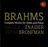 BRAHMS - Znaider - Sonate pour violon et piano n°1 en sol majeur op.78