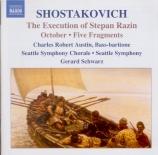 CHOSTAKOVITCH - Schwarz - Exécution de Stepan Razin (L') op.119