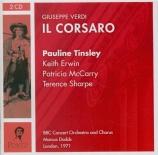 VERDI - Dodds - Il corsaro (Le corsaire), opéra en trois actes Live London, 1971