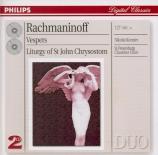RACHMANINOV - Korniev - Les vêpres, pour chœur a cappella op.37