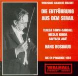 MOZART - Rosbaud - Die Entführung aus dem Serail (L'enlèvement au sérail live Aix-en-Provence 11 - 07 - 1954