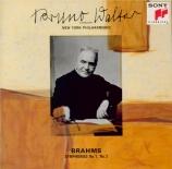 BRAHMS - Walter - Symphonie n°1 pour orchestre en do mineur op.68 Import Japon