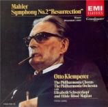 MAHLER - Klemperer - Symphonie n°2 'Résurrection' (Import Japon) Import Japon