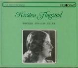 WAGNER - Flagstad - Wesendonck-Lieder, pour voix et piano WWV.91a : arra