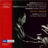 SCHUMANN - Kempff - Fantaisie pour piano en do majeur op.17